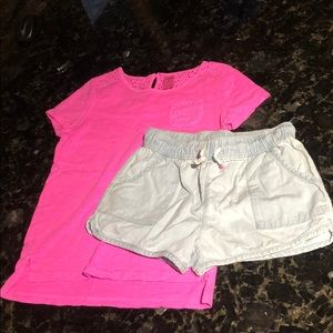 OshKosh girls 2 piece outfit, size 8.